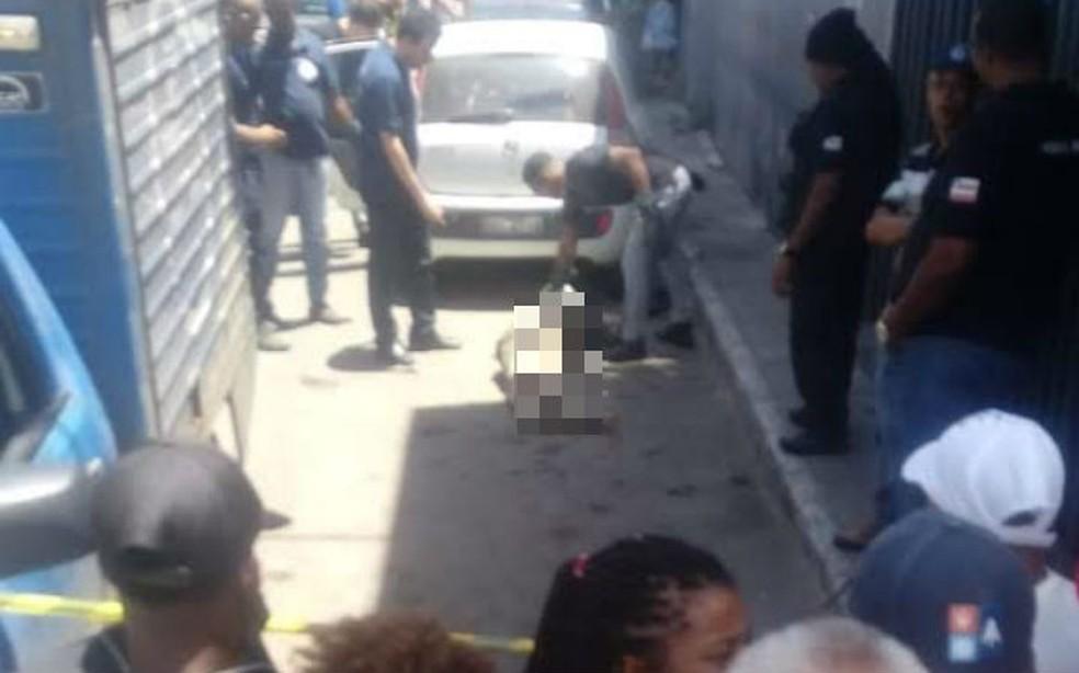Corpo do adolescente foi encontrado em carro abandonado no bairro de São Cristóvão  — Foto: Arquivo Pessoal