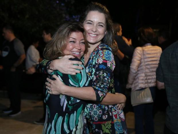 Naná Karabachian e Cláudia Abreu (Foto: Daniel Pinheiro/AgNews)