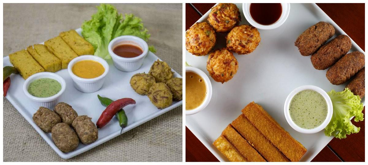 Barbache: bolinhos de costela no bafo, de arroz de carreteiro e polenta frita servidos com molhos especiais