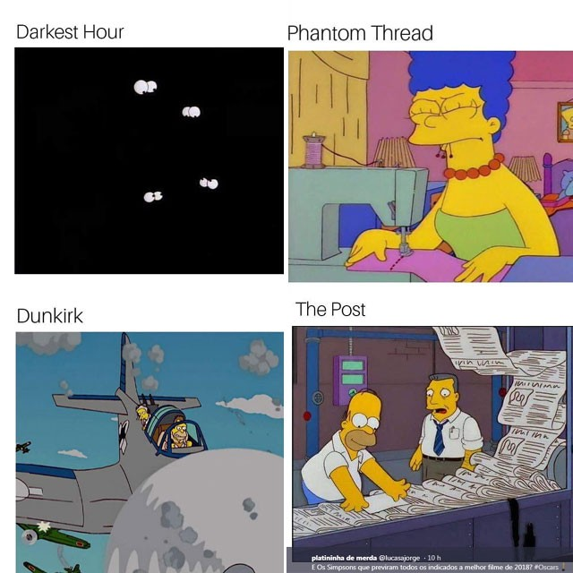 Filmes de destaque do ano ganharam reinterpretação com cenas dos Simpsons (Foto: Reprodução/Instagram)