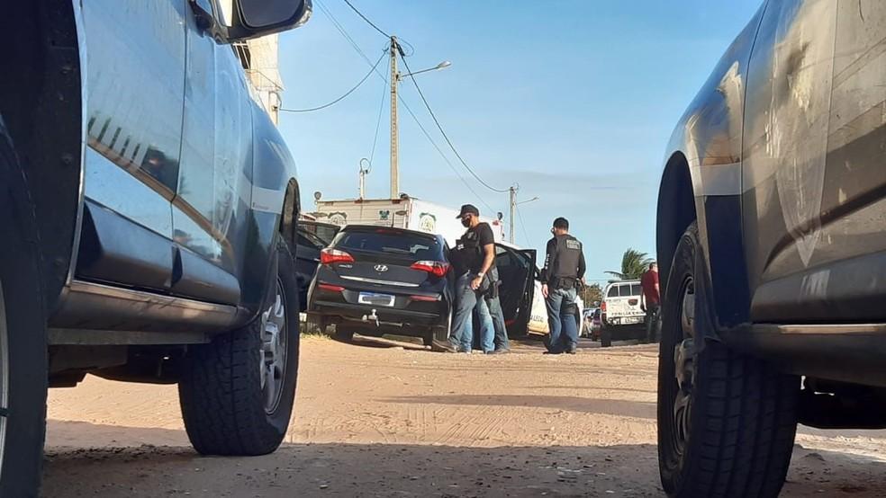 Crime aconteceu em São Gonçalo do Amarante — Foto: Sérgio Henrique Santos/Inter TV Cabugi