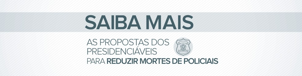 Selo de header para o saiba mais sobre as promessas para reduzir as mortes de policiais — Foto: Alexandre Mauro/G1