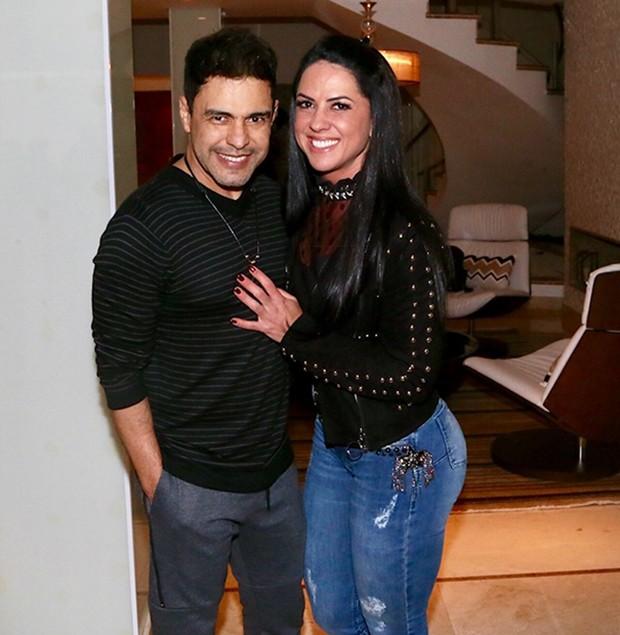 Zezé Di Camargo e a noiva, Graciele Lacerda (Foto: Manuela Scarpa/Brazil News)
