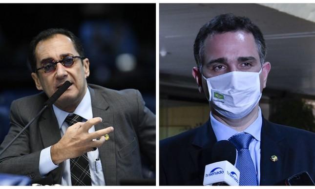 Jorge Kajuru e Rodrigo Pacheco
