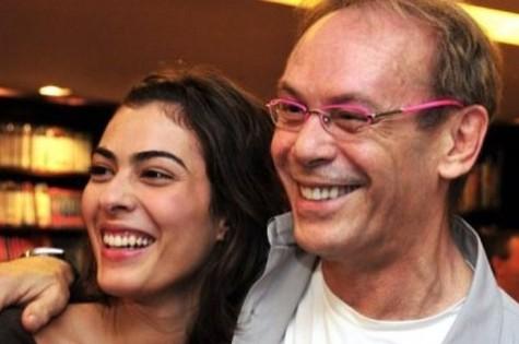 Isabel Wilker e o pai, José Wilker (Foto: Reprodução/Instagram)