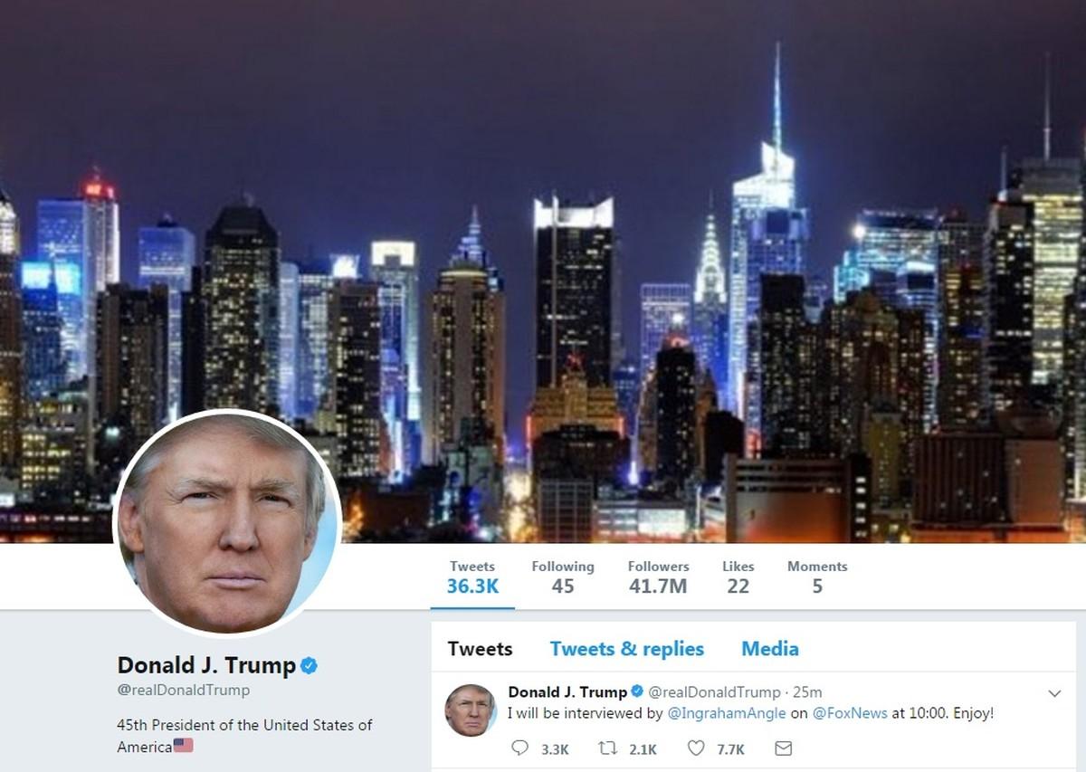 Conta de Trump no Twitter sai do ar por 11 minutos após erro de funcionário