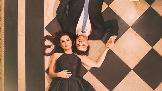 Ex-BBB Cézar Lima faz fotos pré-casamento, em castelo