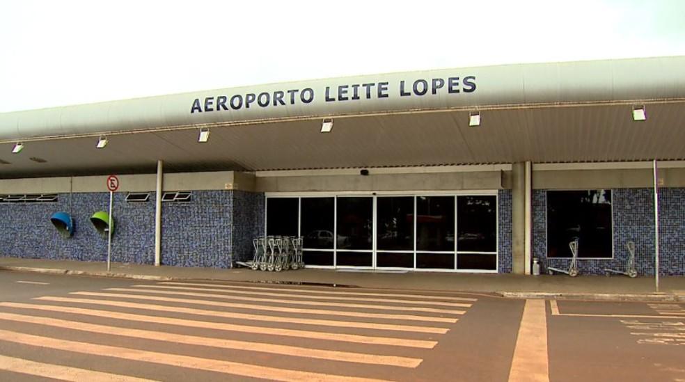 Aeroporto Leite Lopes em Ribeirão Preto, SP (Foto: Reprodução/EPTV)