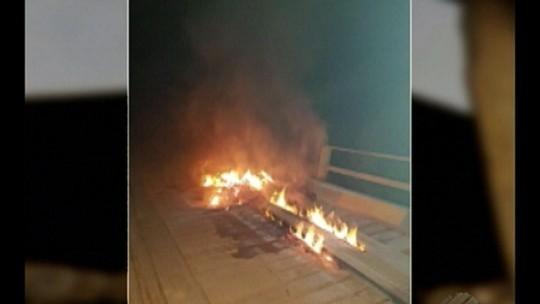 Ponte de madeira no município de Medicilândia é incendiada, segundo Dnit