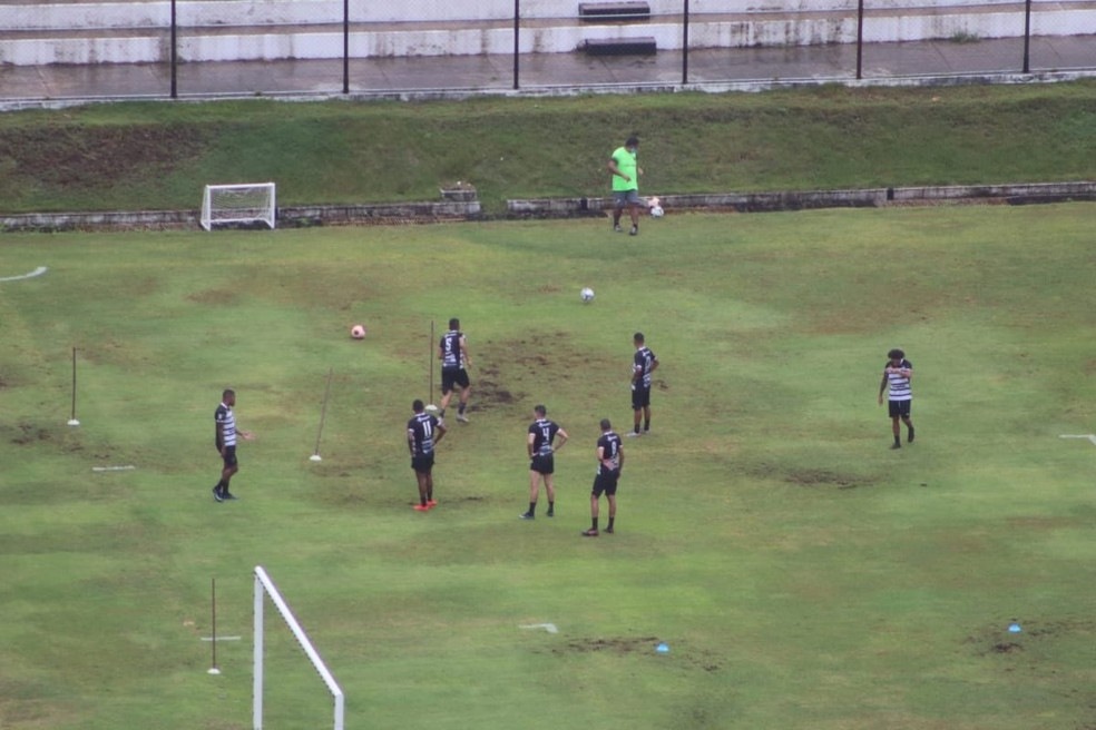 ABC fez treino durante a proibição definida pelo Governo do Estado — Foto: Cedida
