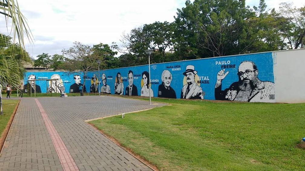 Destaques da ciência e educação no Brasil são retratados por grafite em universidade de MG   Sul de Minas   G1