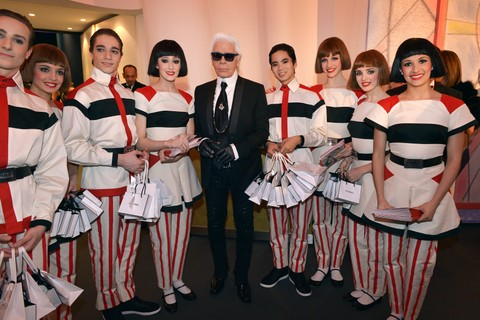 Karl no Rose Ball em 2014