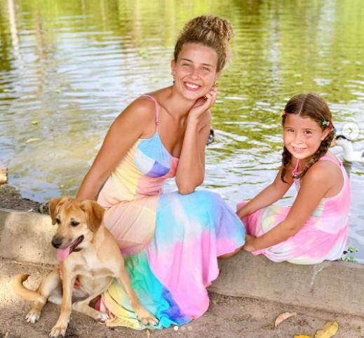 Debby Lagranha e a filha, Duda (Foto: Reprodução)