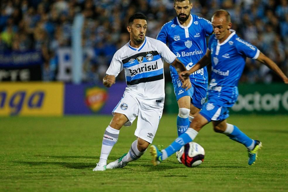 Grêmio foi eliminado peloNovo Hamburgo no Gauchão (Foto: Lucas Uebel/Divulgação Grêmio)