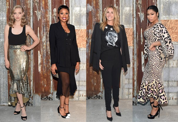 Amanda Seyfried, Jennifer Hudson, Julia Roberts e Nicky Minaj. Looks aprovados? (Foto: Getty Images)