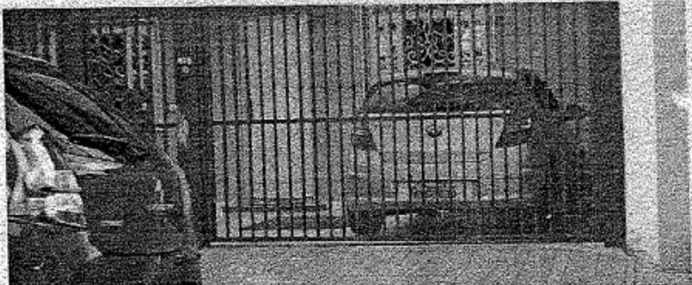 Carro foi roubado em Curitiba e encaminhado para delegacia de Almirante Tamandaré, diz MP (Foto: Reprodução)