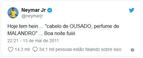 Neymar resume em um tuíte o signo de escorpião (Foto: Reprodução / Twitter)