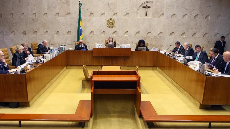 Sessão plenária do STF sobre o Código Florestal  (Foto: Nelson Jr./SCO/STF )