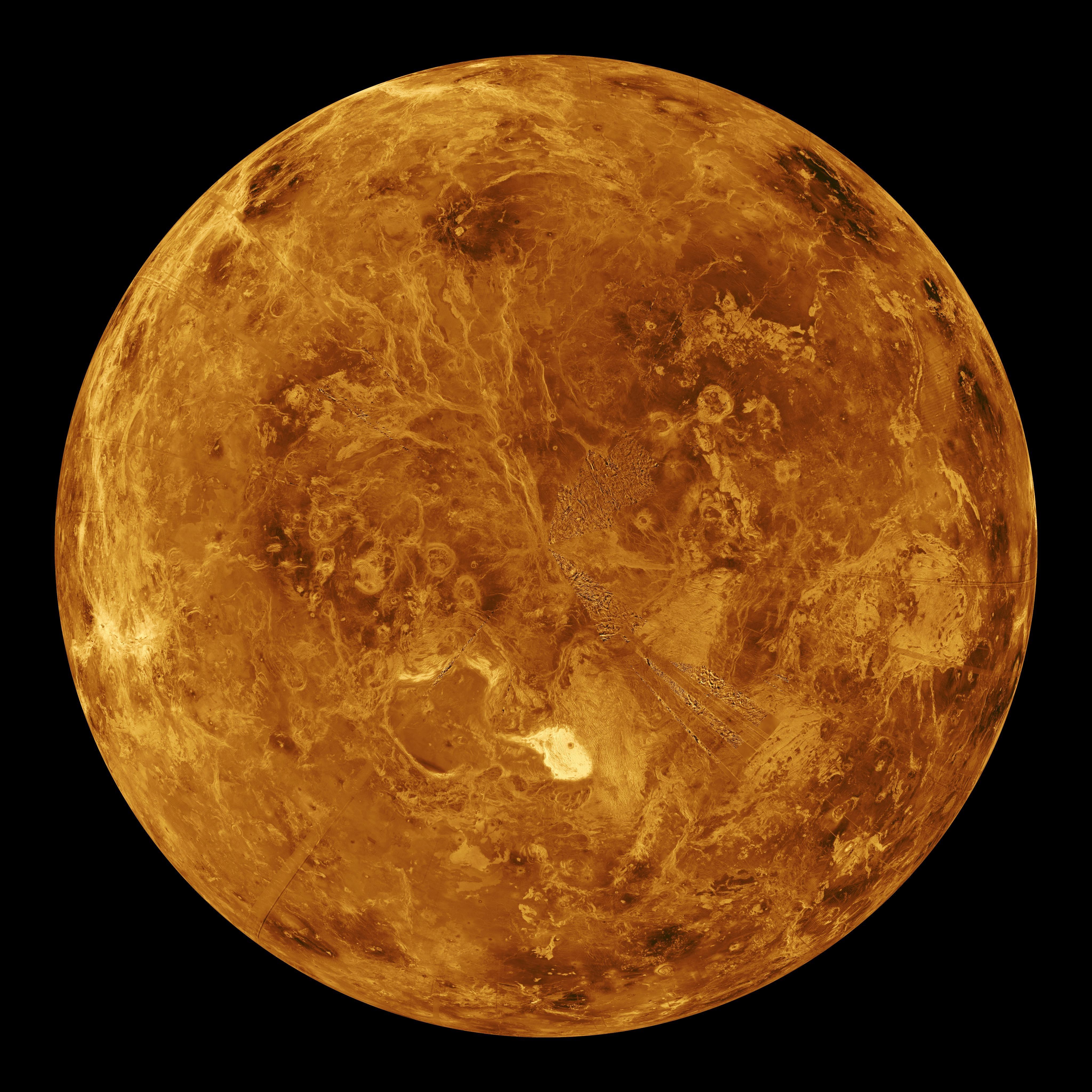 Vênus: simulação em computador do seu hemisfério norte (Foto: NASA/JPL)