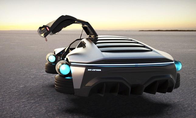 DeLorean DMC 12 em 2021, na visão do designer Angel Guerra