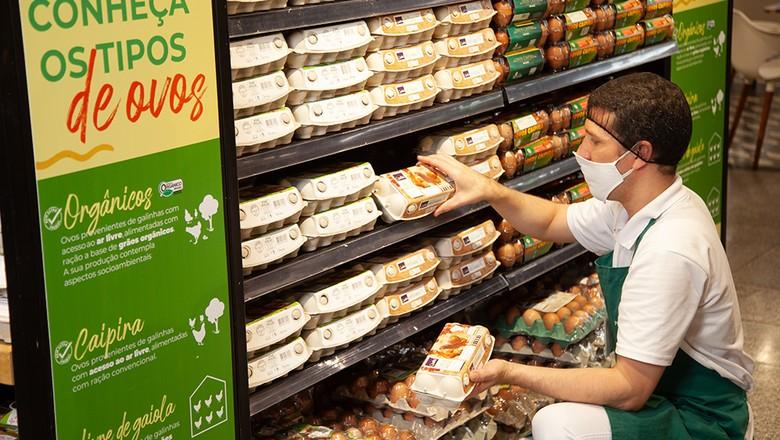gôndula-supermercados-ovos-GPA (Foto: Divulgação/GPA)
