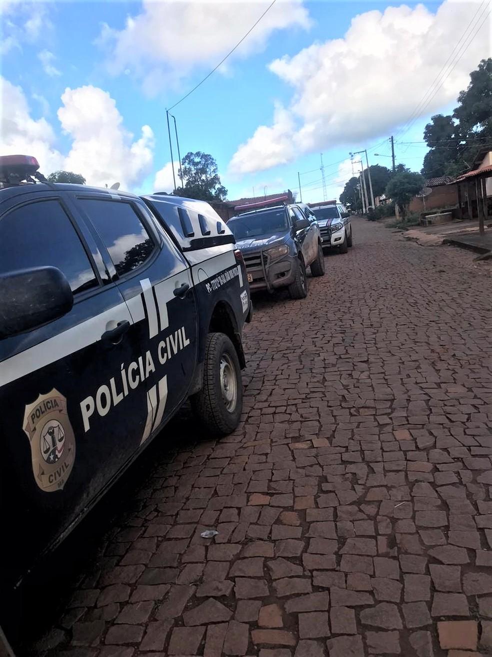 Presos suspeitos de torturarem e matarem piauense no Maranhão. — Foto: Divulgação/Polícia Civil do Maranhão.