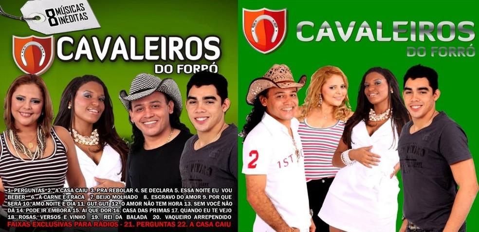 Eliza Clívia, à esquerda, e Gabriel Diniz, à direita, foram vocalistas do grupo Cavaleiros do Forró — Foto: Reprodução