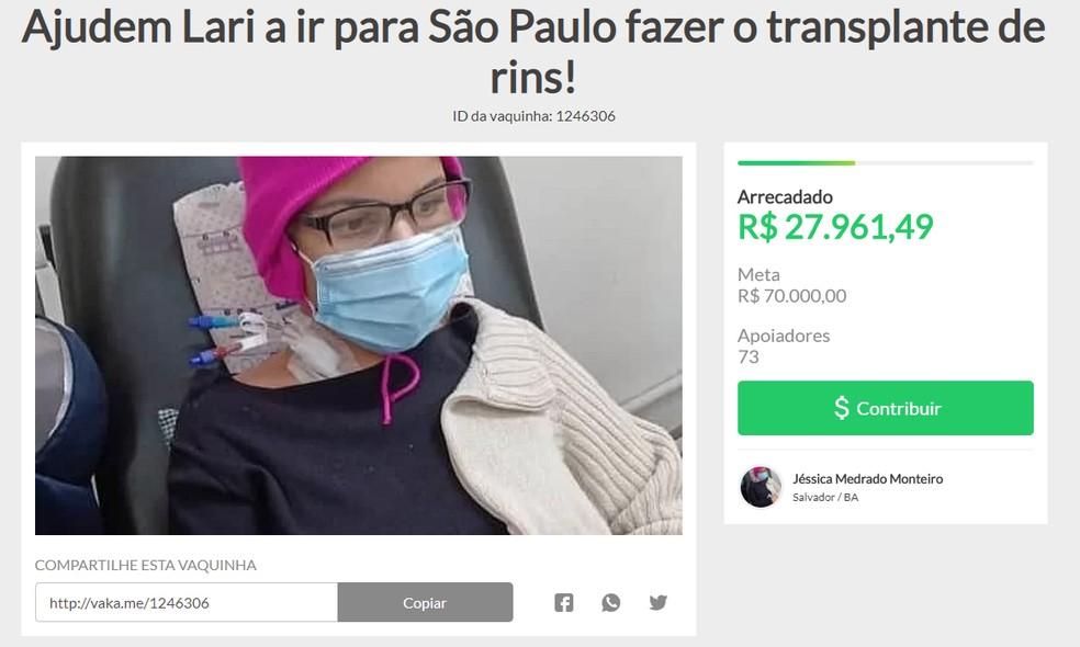 Esteticista realiza vaquinha para conseguir transplante de rins — Foto: Reprodução/Redes Sociais