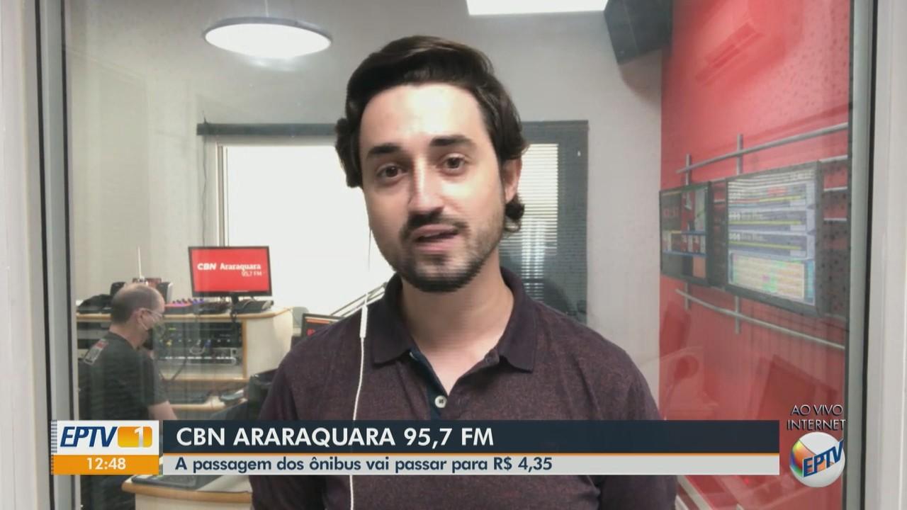Passagem de ônibus em Araraquara vai subir para R$ 4,35