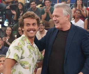 Pedro Bial e o filho, o músico Theo | Divulgação/Globo