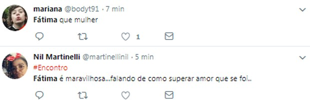 Internautas repercutem declaração de Fátima Bernardes (Foto: Reprodução/Twitter)