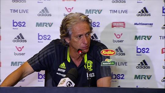 Jorge Jesus explica decisão de poupar jogadores contra o Ceará e parabeniza Arrascaeta por golaço
