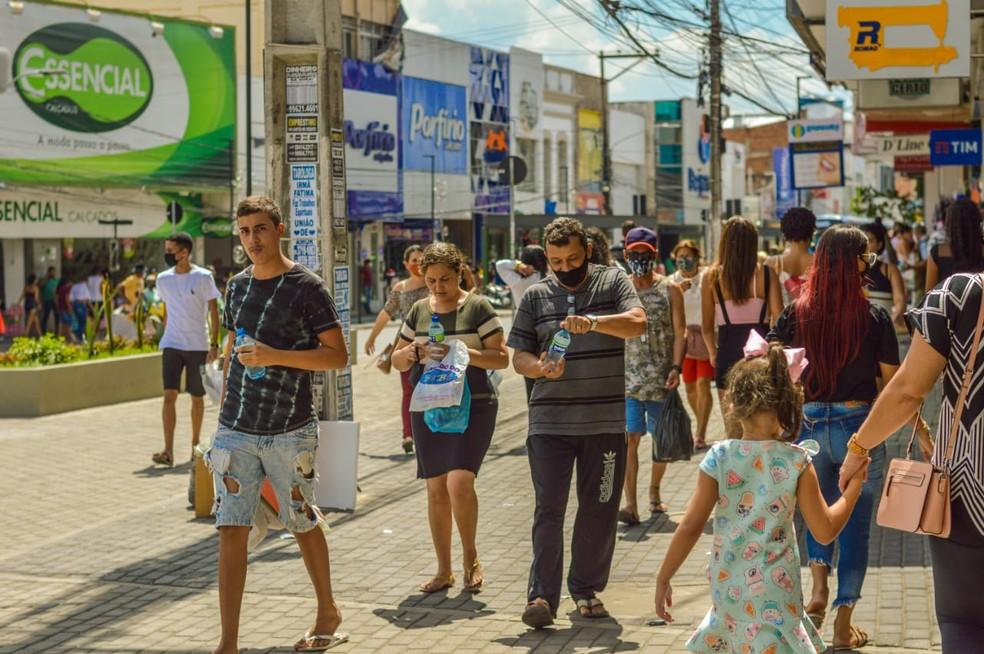 Centro de Caruaru — Foto: Janaína Pepeu/Divulgação