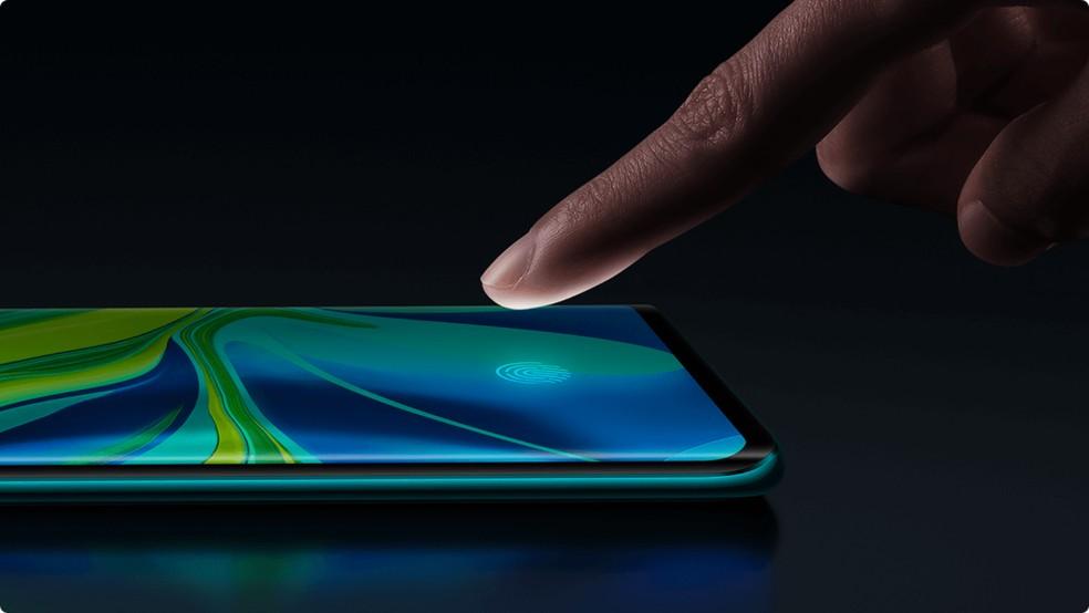 Mi Note 10 Pro e Mi 10 Pro vem com impressão digital integrada à tela — Foto: Divulgação/Xiaomi
