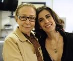 Fernanda Montenegro visita a filha, Fernanda Torres, no Projac | Estevam Avellar/ TV Globo