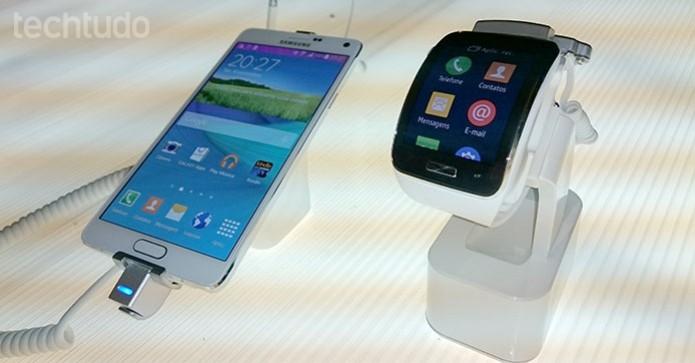 Note 4 e Gear S chegam às prateleiras a partir do dia 8 de novembro (Foto: Paulo Alves/TechTudo)