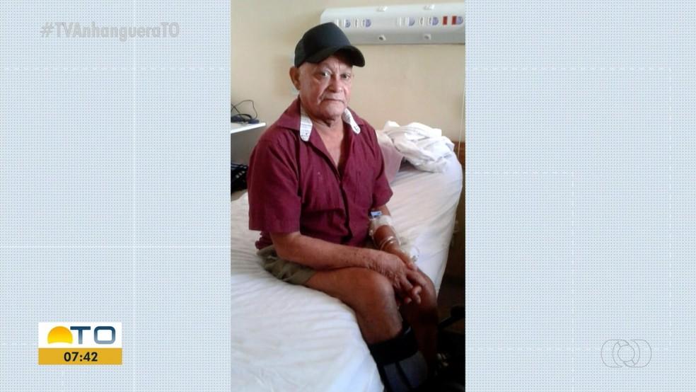 Francisco espera no HGP por cirurgia no tornozelo — Foto: Reproduçã/TV Anhanguera