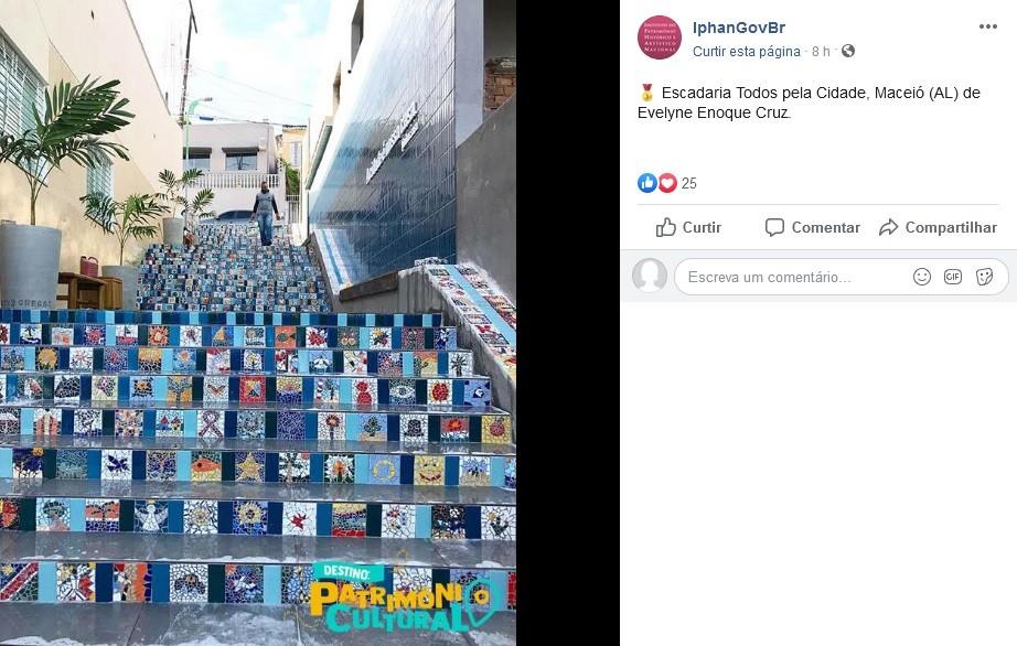 Foto de escadaria revitalizada em Maceió vence concurso nacional do Iphan - Notícias - Plantão Diário