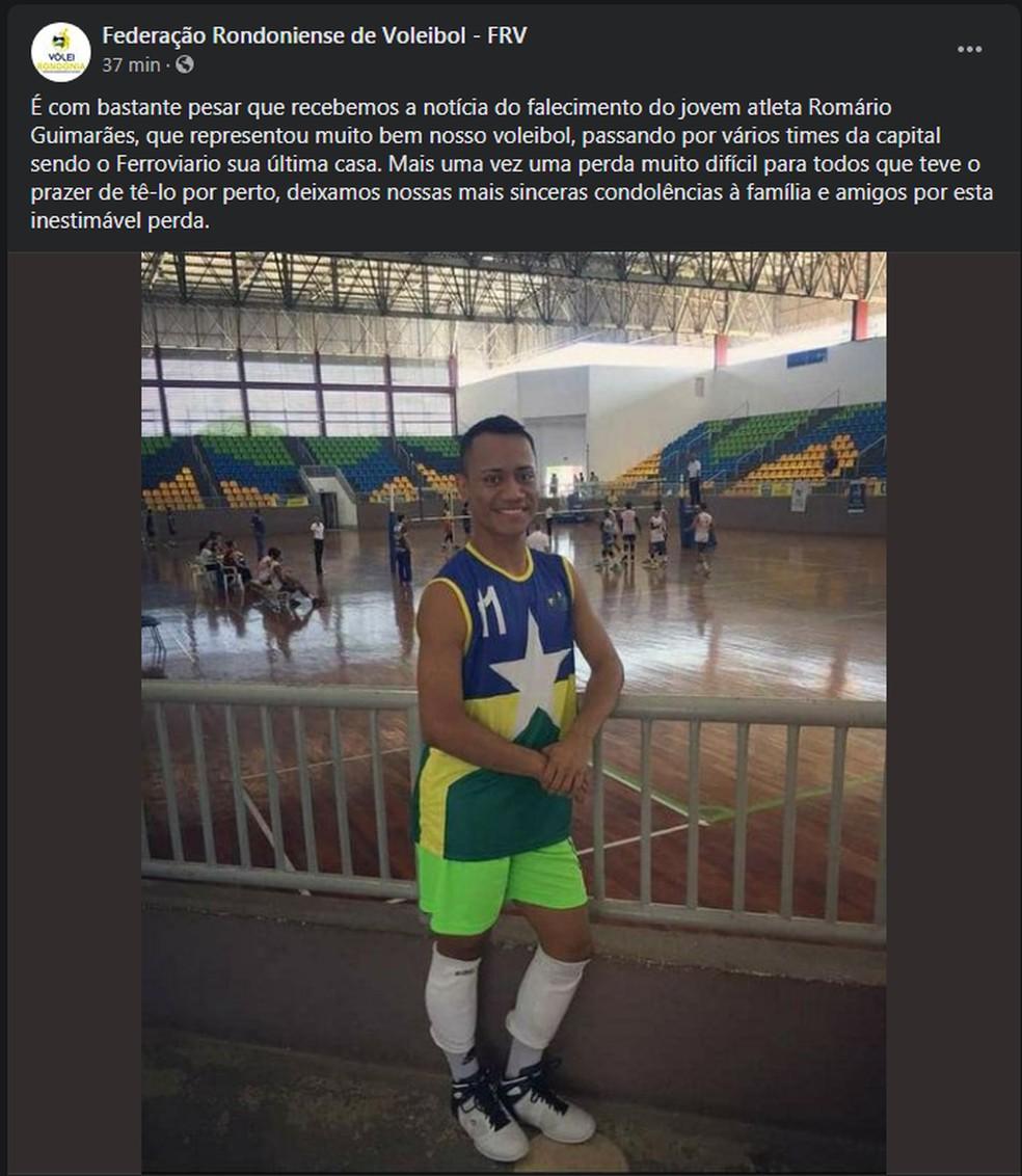 FRV fala sobre morte de Romário nas redes sociais — Foto: Divulgação