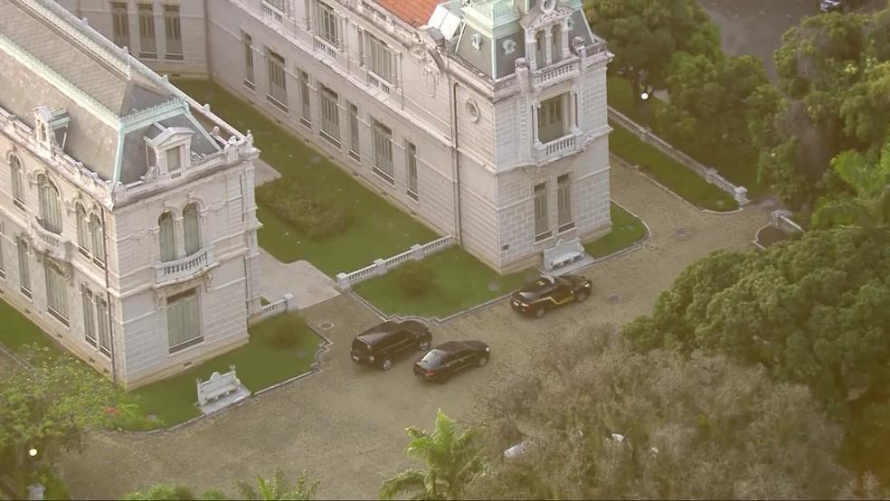 PF no Palácio Laranjeiras — Foto: Reprodução/TV Globo