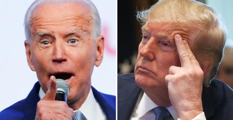 Biden e Trump — Foto: Mike Blake/Reuters e Leah Millis/Reuters