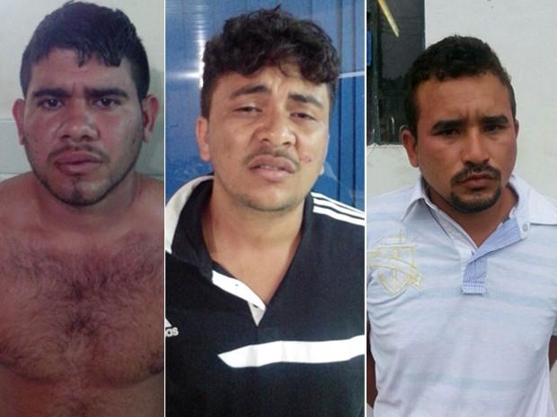 Allan Kardec Dias Costa, Giheliton de Jesus Santos e José Bonifácio Lemos da Silva Júnior foram presos nesta quinta-feira (9). (Foto: SSP/Maranhão)