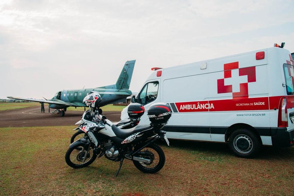 Transporte de órgãos foi realizado nesta sexta-feira (17) em Tatuí — Foto: Prefeitura de Tatuí/Divulgação
