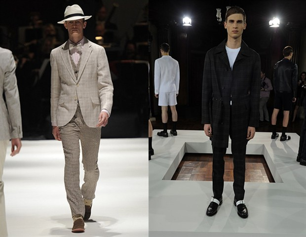 Hackett e Pringle (Foto: London Collections/ divulgação)