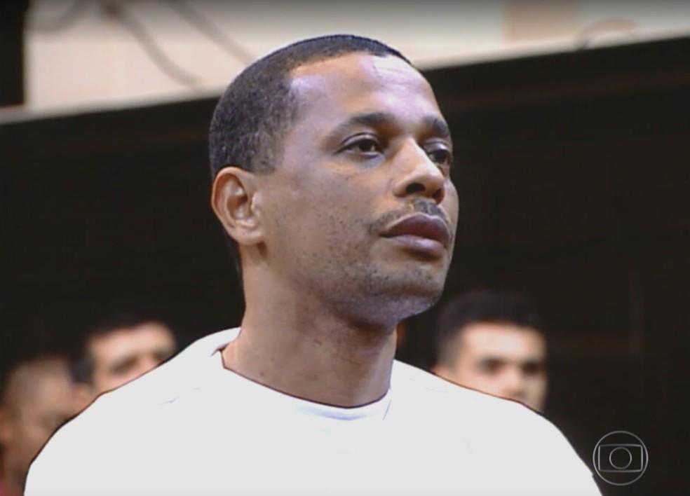 Elias Maluco, acusado pelo assassinato do jornalista Tim Lopes. — Foto: Reprodução/ TV Globo
