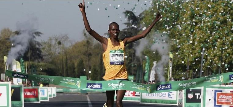 Paul Lonyangata, campeão da Maratona de Paris de 2017