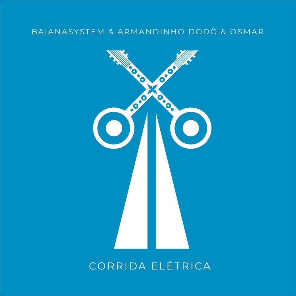 Capa do single 'Corrida elétrica', da BaianaSystem com Armandinho — Foto: Cartaxo