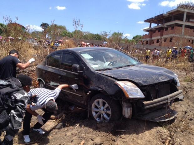 Após assalto, mulher persegue, atropela e mata criminoso em Teresina (Foto: Gil Oliveira/G1 Piauí)