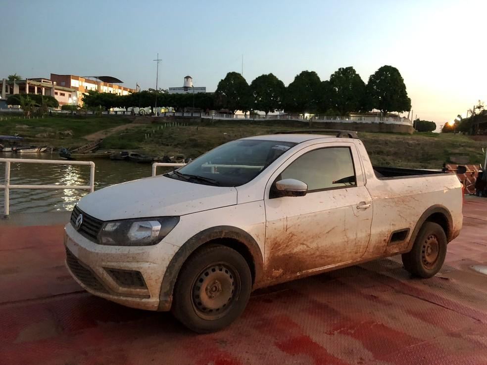 Carro roubado em Porto Velho é encontrado em cidade da Bolívia — Foto: Divulgação/Polícia