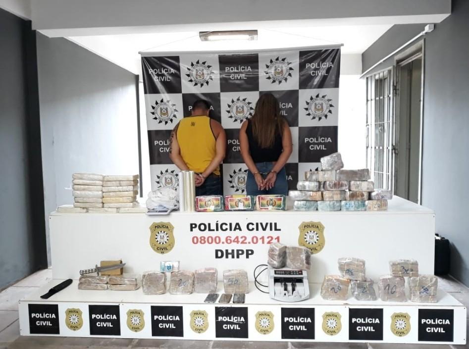 Foragido e companheira são presos com cerca R$ 1 milhão em dinheiro e drogas em Porto Alegre - Noticias